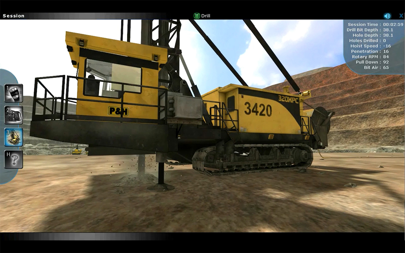 Komatsu 320XPC Drill Operator Training Simulator by ForgeFX Simulations