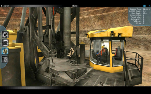 Komatsu Joy Global PH Mining ForgeFX Blasthole Drill Training Simulator