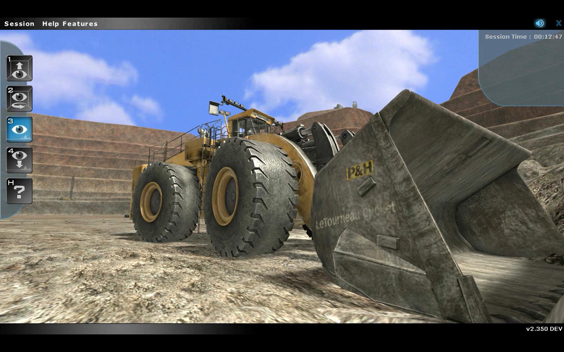 Komatsu Joy Global PH Mining LeTourneau Training Simulator