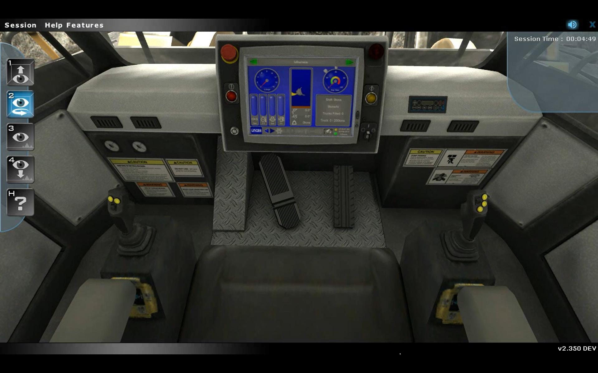 Komatsu Loader Operator Controls Familiarization Training Simulator