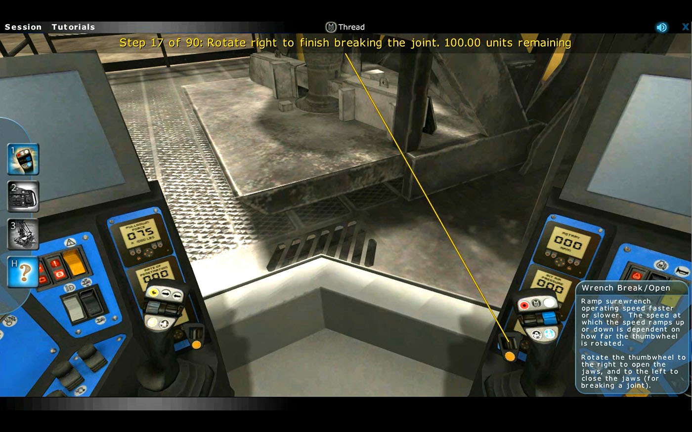 Komatsu Mining Equipment Controls Familiarization Training Simulator