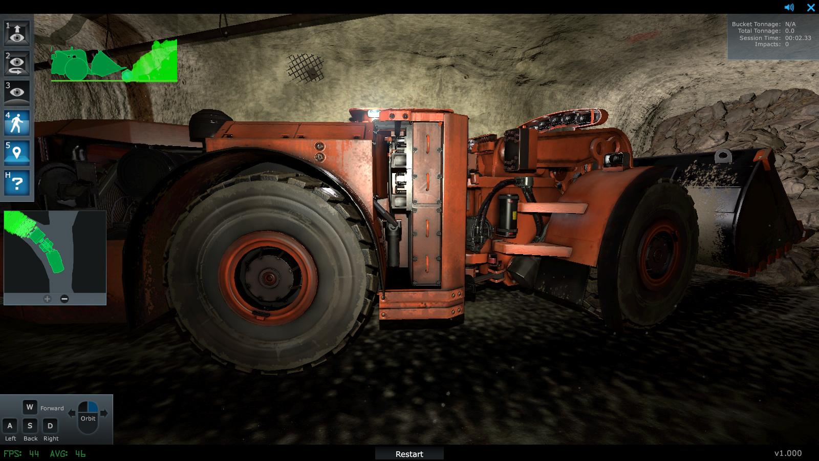 Komatsu Mining Training Simulator