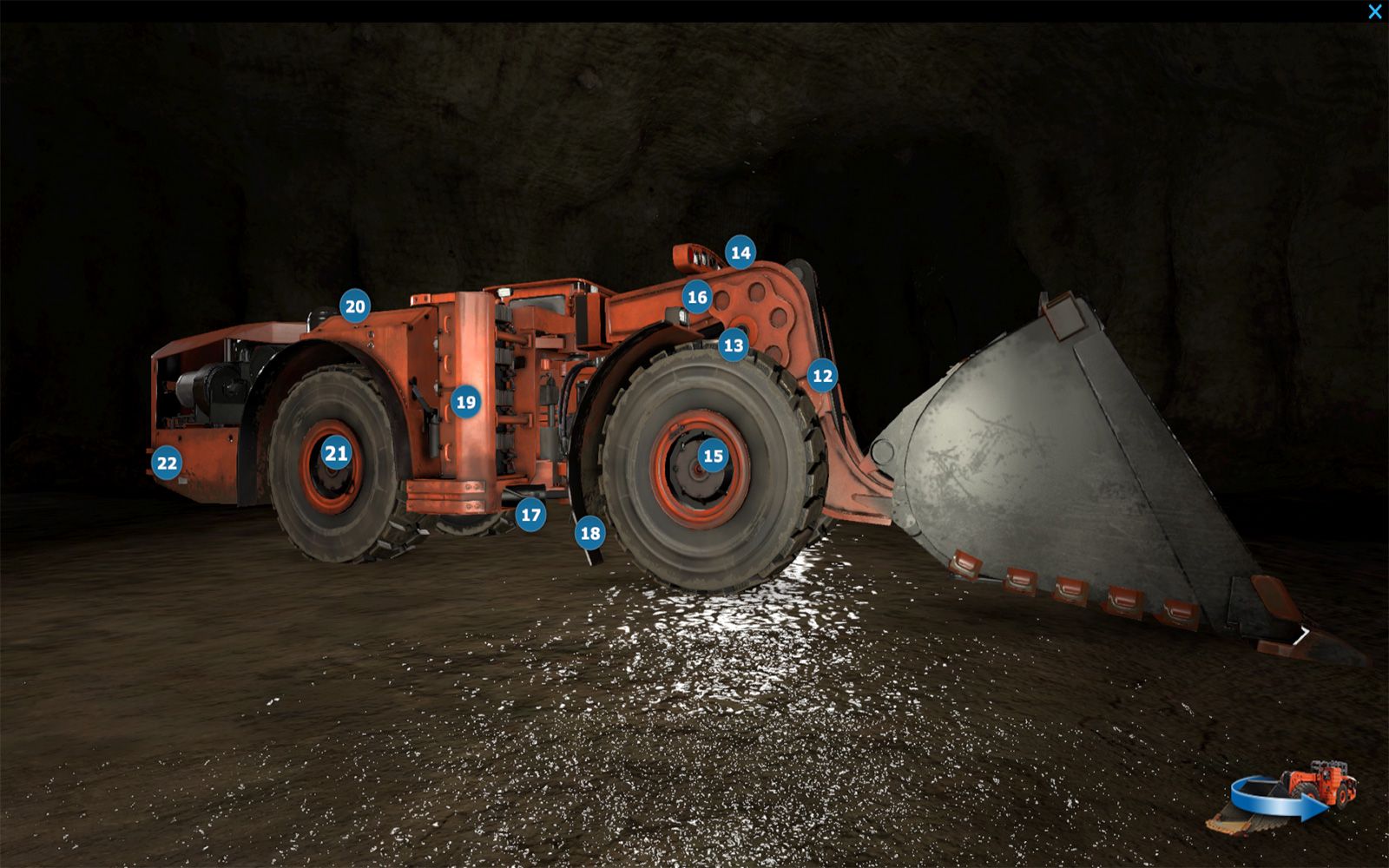 Komatsu Mining Simulator Inspection Points