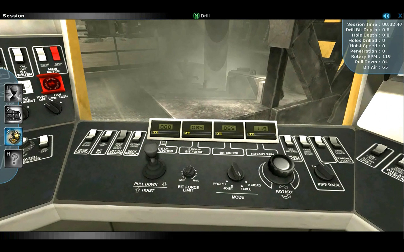 Komatsu PH Mining Blasthole Drill Operator Training Simulator by ForgeFX Simulations