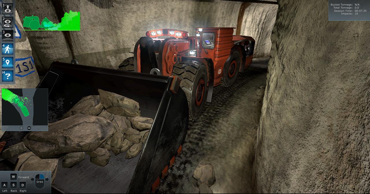 Komatsu Underground Mining Loader Training Simulator