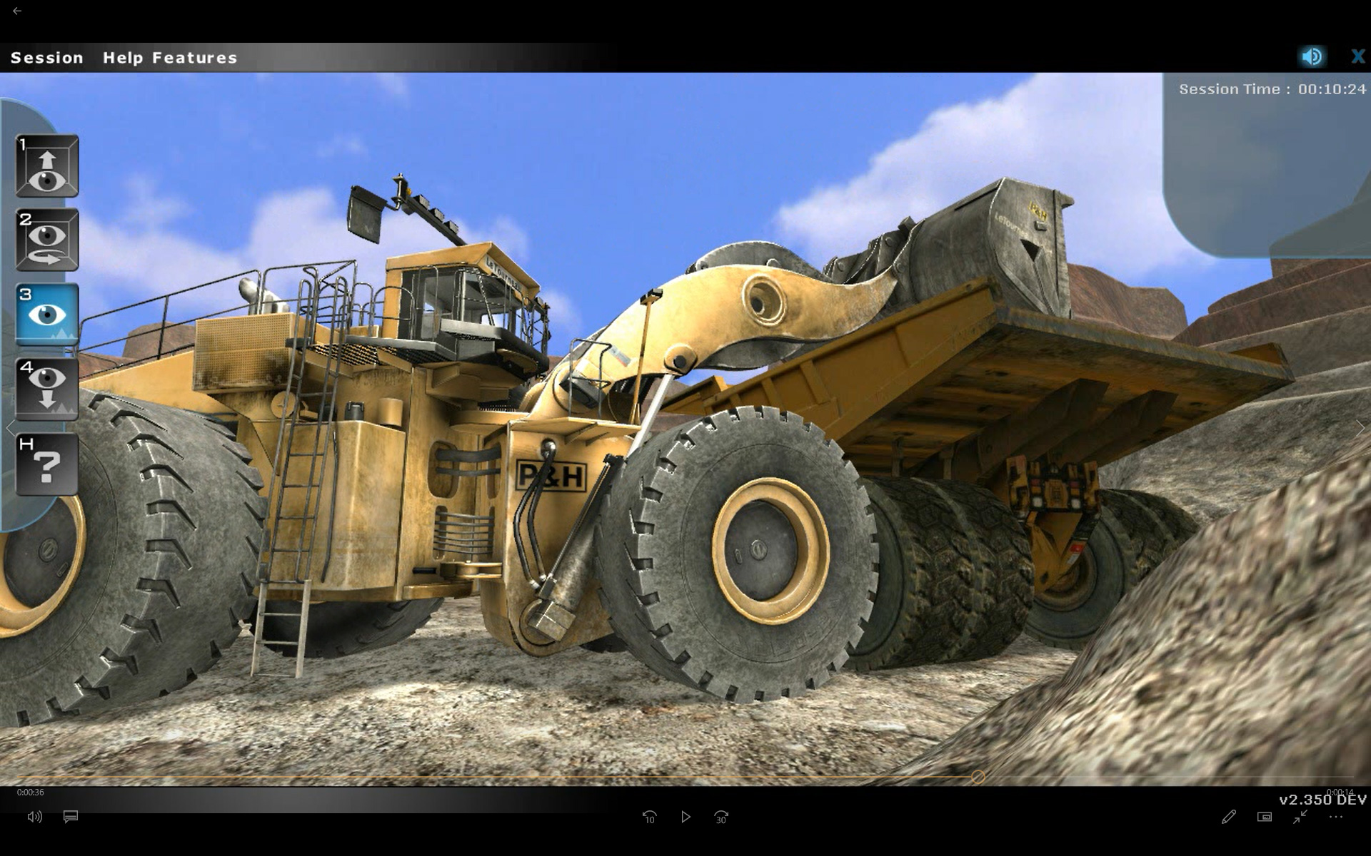 Komatsu Mining Equipment Operator Training Simulator