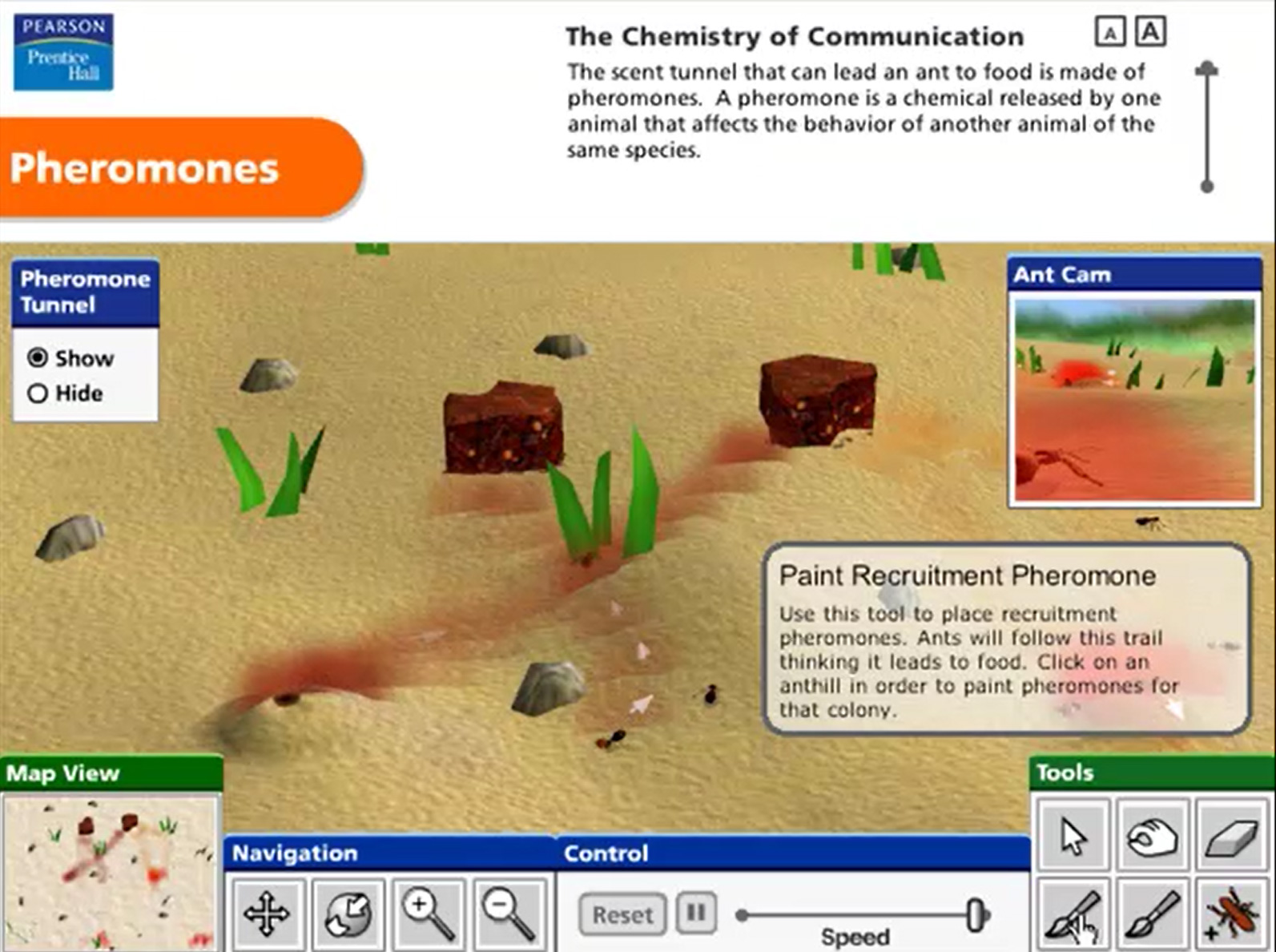 Pearson Education Virtual Science Experiments by ForgeFX Simulations, Pheromones Training Simulator