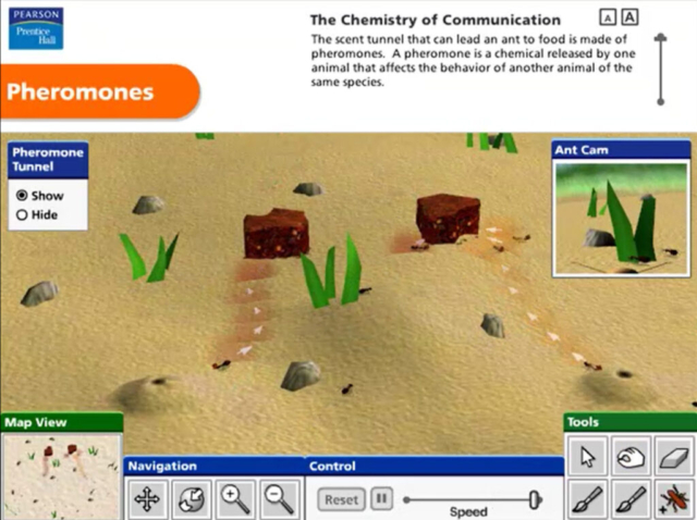 Pearson Education Virtual Science Experiments by ForgeFX Simulations, Pheromones Virtual Training Simulator