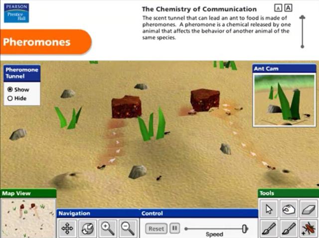 Pearson Education Virtual Science Experiments by ForgeFX Simulations, Pheromones Virtual Training Simulator