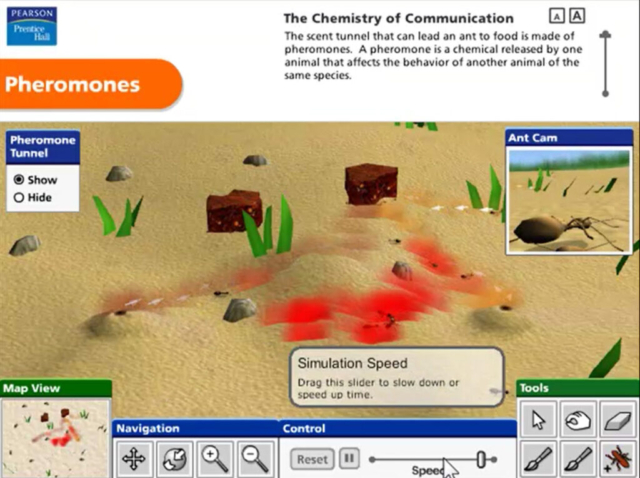 Pearson Education Virtual Science Experiments by ForgeFX Simulations, Pheromones