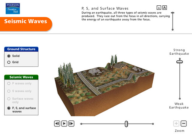 Pearson Education Virtual Science Experiments by ForgeFX Simulations, Seismic Waves Virtual Training Simulator