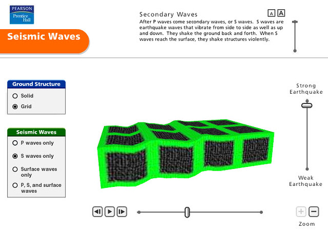 Pearson Education Virtual Science Experiments by ForgeFX Simulations, Seismic Waves Training Simulations