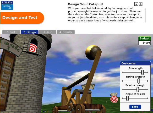 Pearson Education Virtual Science Experiments by ForgeFX Simulations, Design and Test Simulator