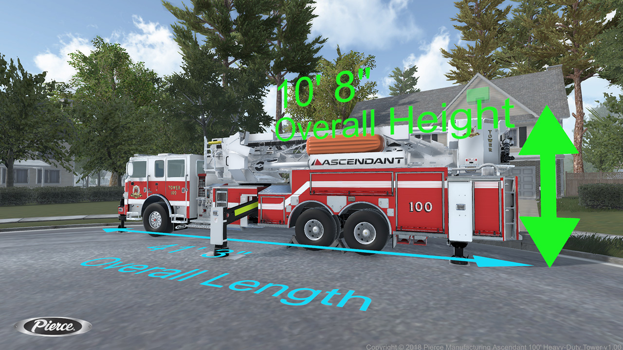 Pierce Fire Truck Simulator HUD Overlays