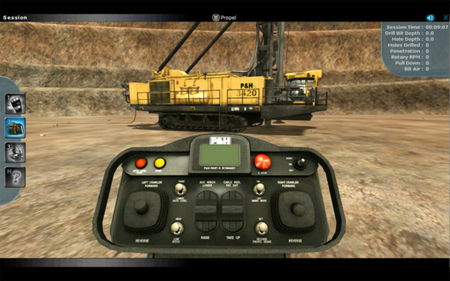 Remote Operation Training Simulation for Blasthole Drill Operators