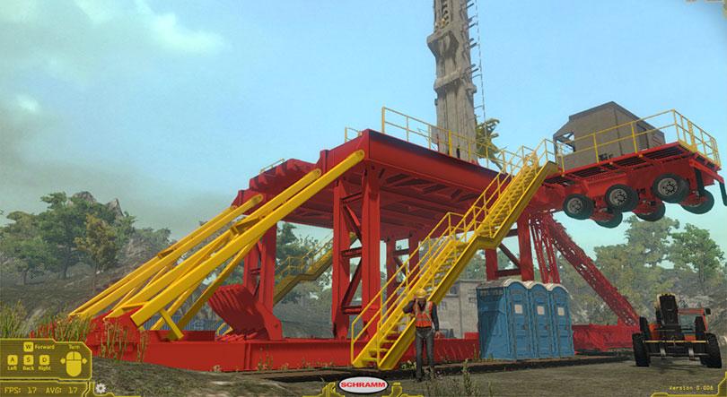 Schramm Oil Gas Rig Operator Training Simulator