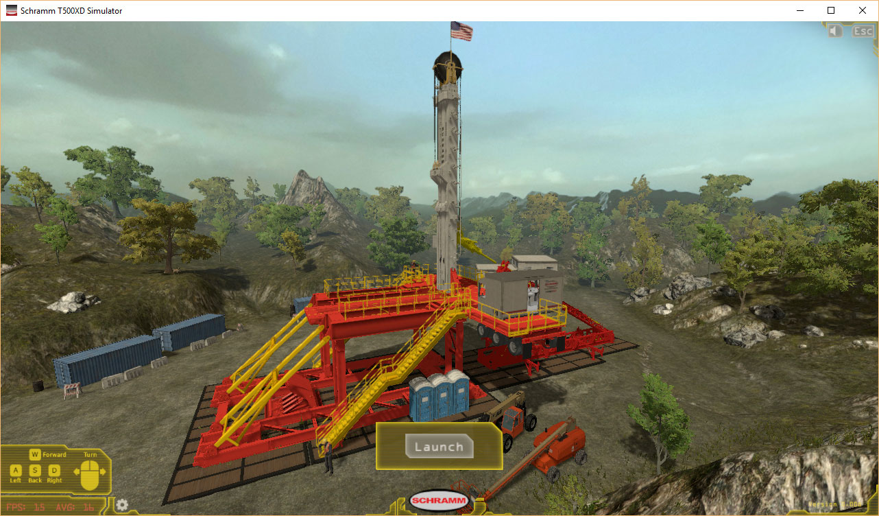 Schramm Oil and Gas Rig Training Simulator