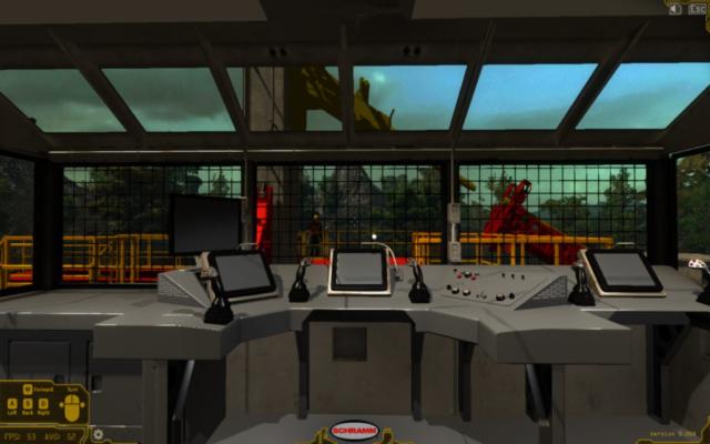 Simulation Based-Training Hydraulic Drill-Rig Operator Control Room