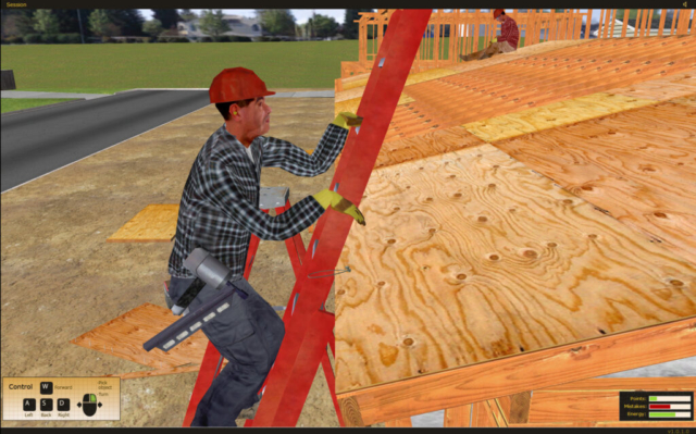 California State Compensation Insurance Fund Construction Ladder Safety Training Simulation Software