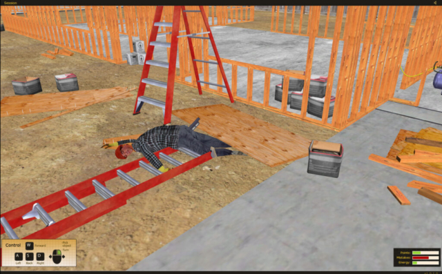 California State Compensation Insurance Fund Ladder Safety Training Simulator by ForgeFX Simulations
