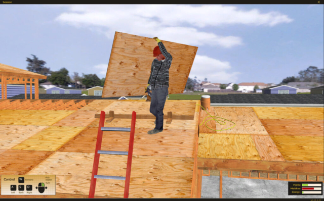 State Compensation Insurance Fund Safety Construction Ladder Safety raining Simulator by ForgeFX