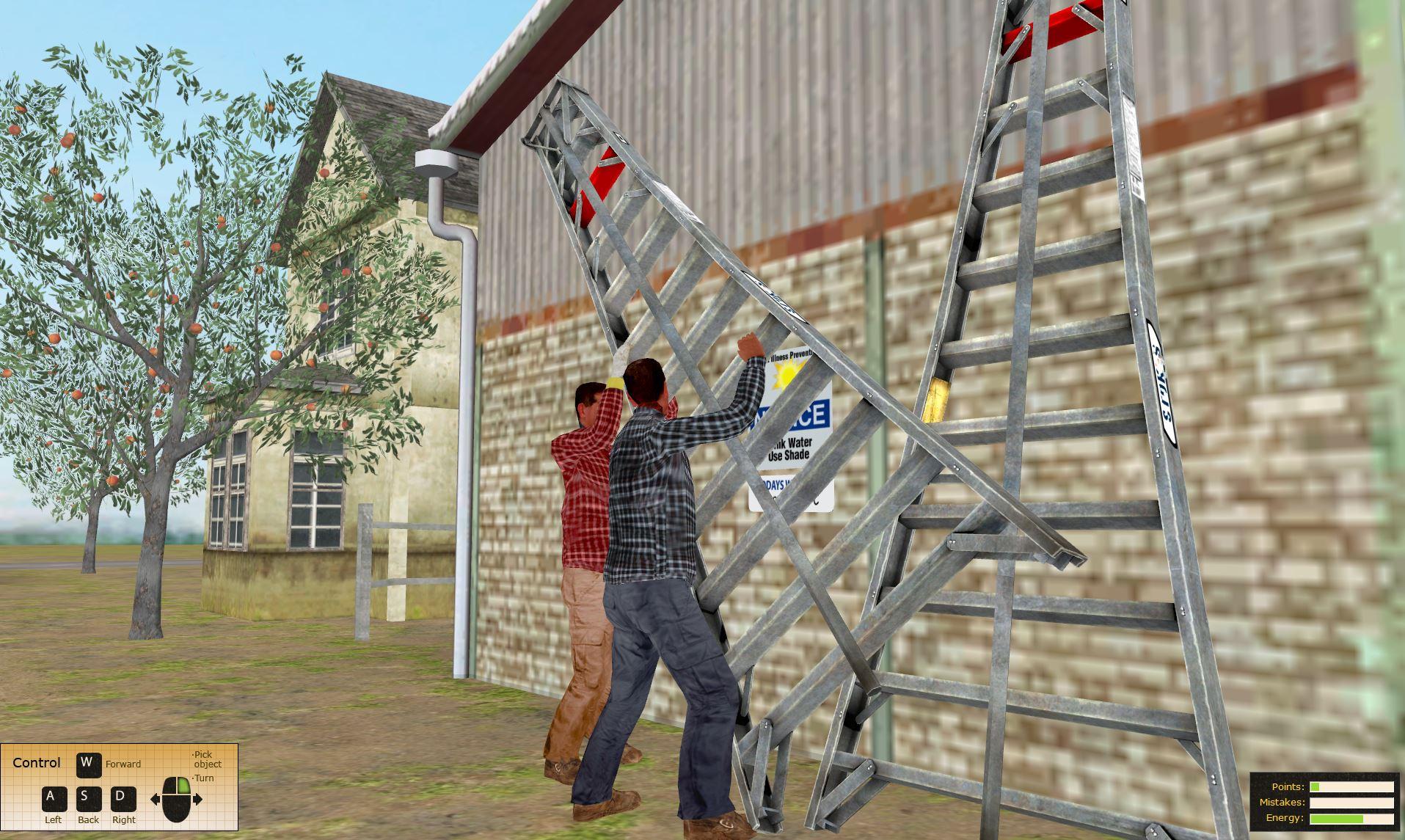 State Compensation Insurance Fund Safety Training Simulator Ladder Safety