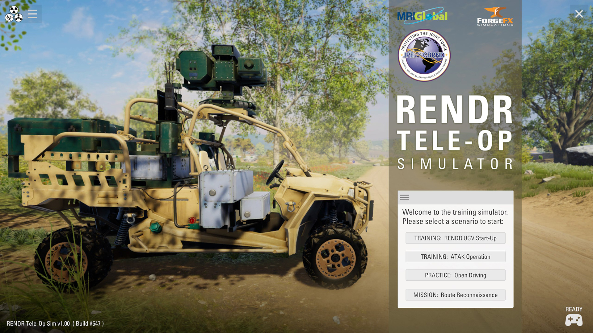 Teleoperation Training Simulator-for Unmanned Ground Vehicles