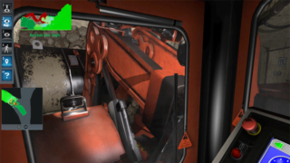 Komatsu Underground Mining LHD Simulator, Bucket-Control Training Simulation