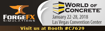 World of Concrete 2018, ForgeFX Training Simulations, Booth C7629