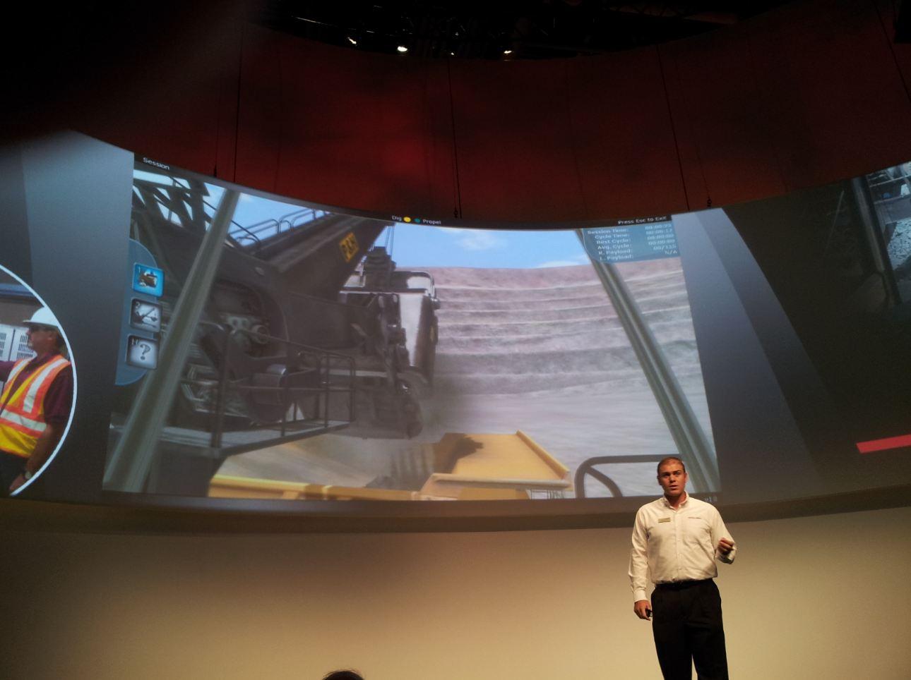 Komatsu P&H Mining Electric Rope Shovel Training Simulator at MINExpo